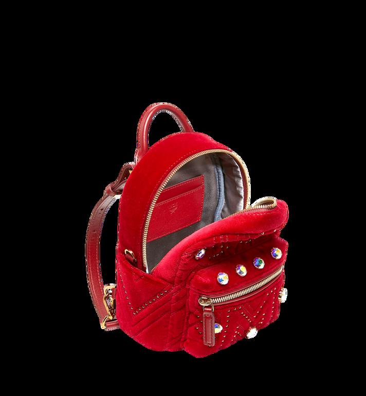 MCM Stark Bebe Boo Backpack in Velvet Crystal Studs Alternate View 7