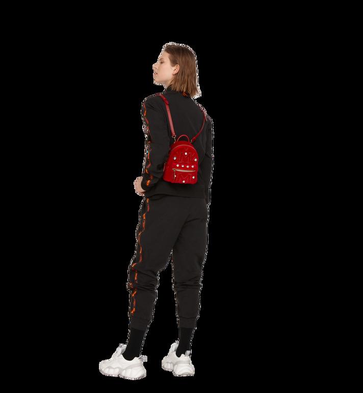 MCM Stark Bebe Boo Backpack in Velvet Crystal Studs Alternate View 8