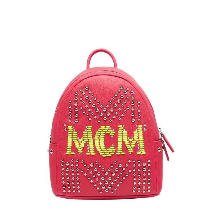 MCM Stark Backpack in Neon Stud Leather AlternateView