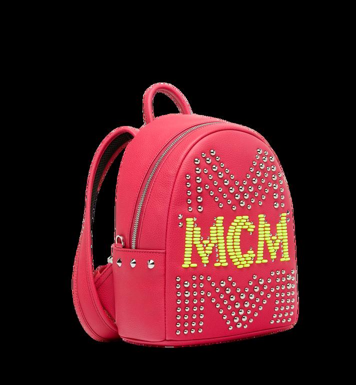 MCM Stark Backpack in Neon Stud Leather AlternateView2