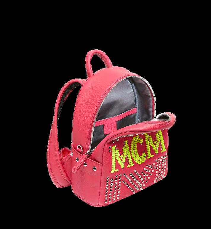 MCM Stark Backpack in Neon Stud Leather AlternateView5