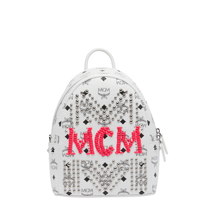 MCM Stark Backpack in Neon Stud Visetos Alternate View