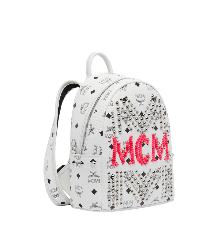 MCM Stark Backpack in Neon Stud Visetos Alternate View 2