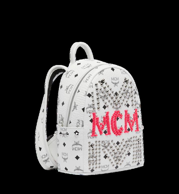 MCM Stark Backpack in Neon Stud Visetos AlternateView2