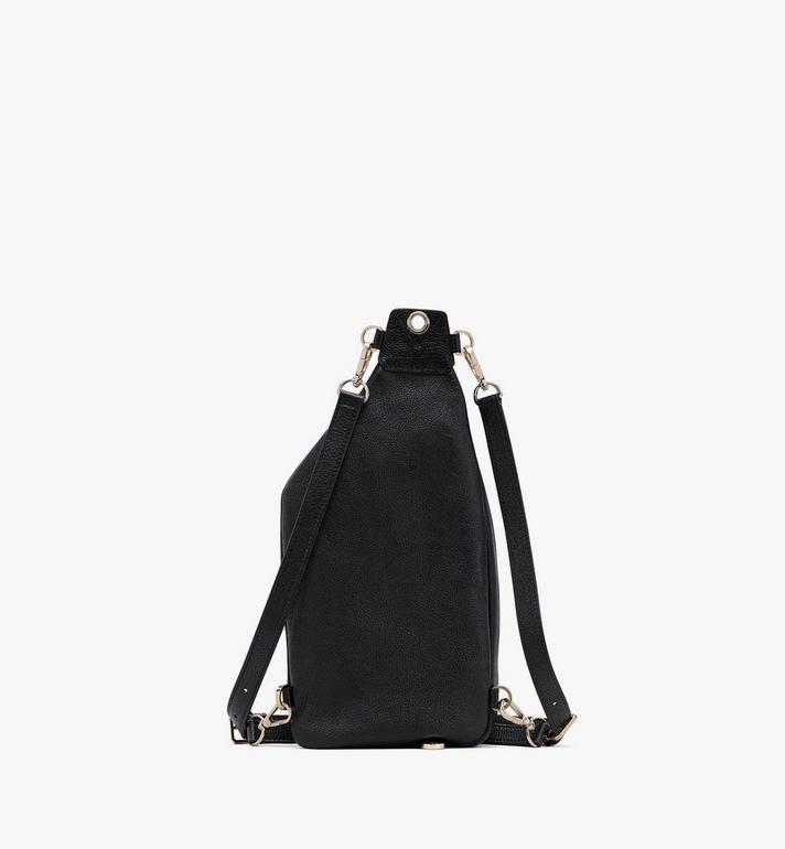 MCM Milano Backpack in Goatskin Leather Black MWKASDA01BK001 Alternate View 3