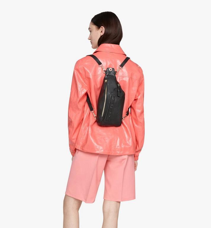 MCM Milano Backpack in Goatskin Leather Black MWKASDA01BK001 Alternate View 5