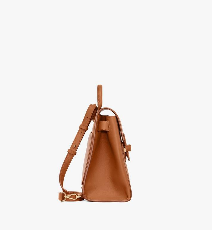 MCM Essential Backpack in Monogram Leather Cognac MWKASSE01CO001 Alternate View 2