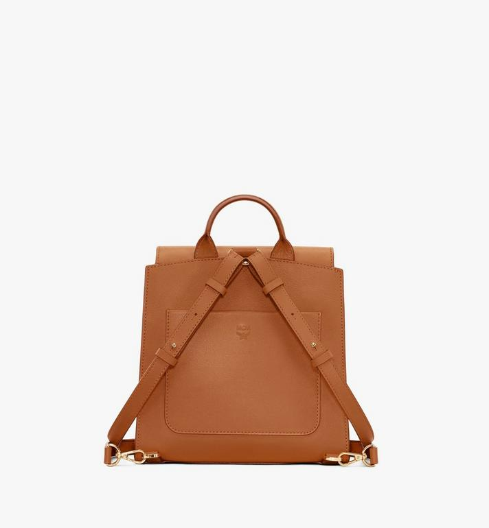 MCM Essential Backpack in Monogram Leather Cognac MWKASSE01CO001 Alternate View 3