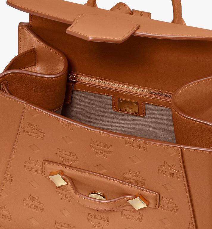 MCM Essential Backpack in Monogram Leather Cognac MWKASSE01CO001 Alternate View 4