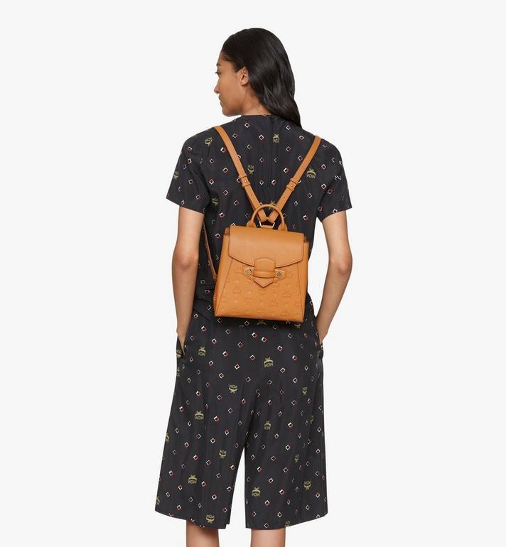 MCM Essential Backpack in Monogram Leather Cognac MWKASSE01CO001 Alternate View 6