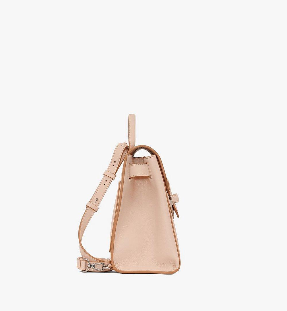 MCM Essential Backpack in Monogram Leather Beige MWKASSE01II001 Alternate View 1