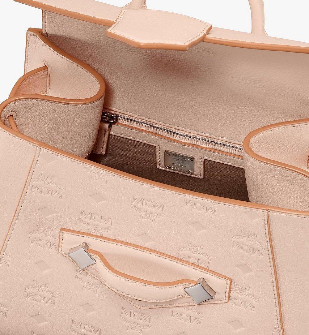 MCM Essential Backpack in Monogram Leather Beige MWKASSE01II001 Alternate View 3