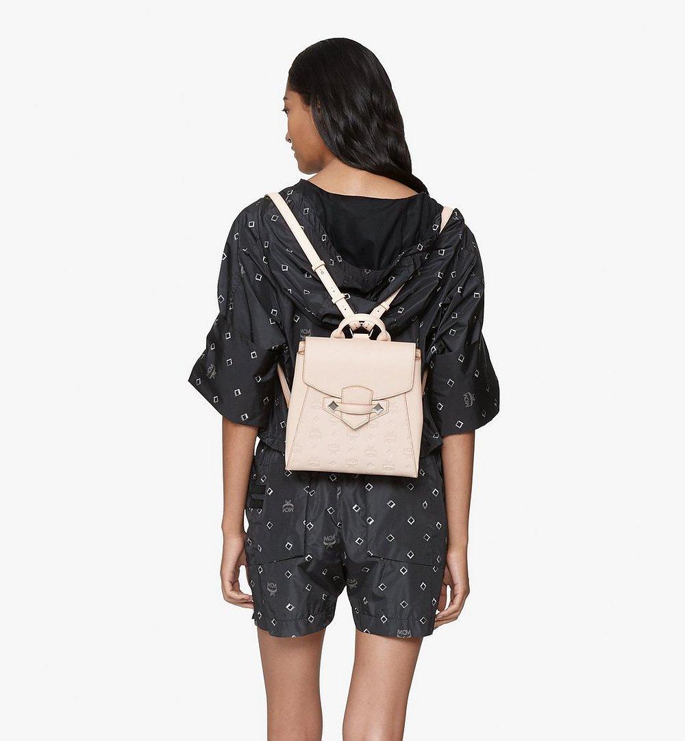 MCM Essential Backpack in Monogram Leather Beige MWKASSE01II001 Alternate View 2