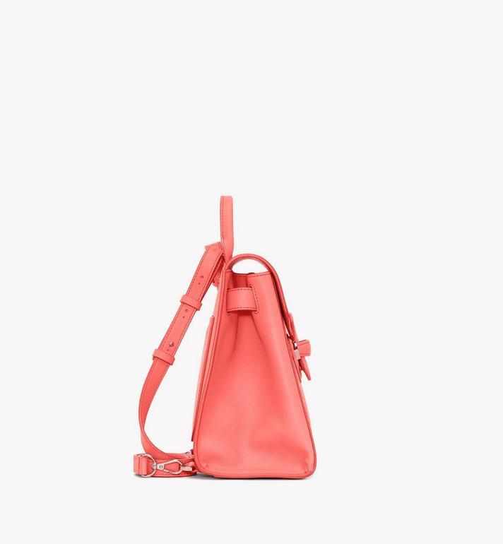 MCM Essential Backpack in Monogram Leather Pink MWKASSE01O3001 Alternate View 2