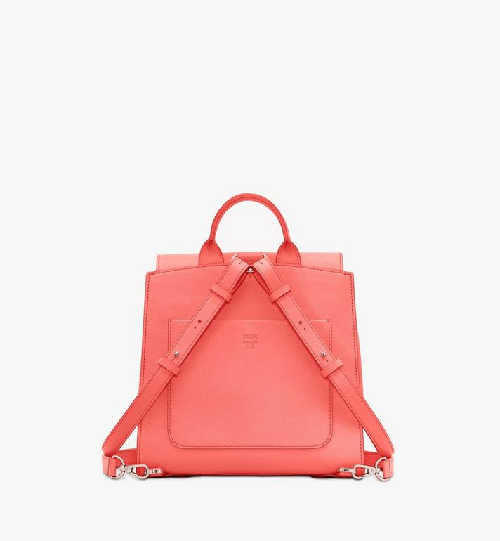 MCM Essential Backpack in Monogram Leather Pink MWKASSE01O3001 Alternate View 3