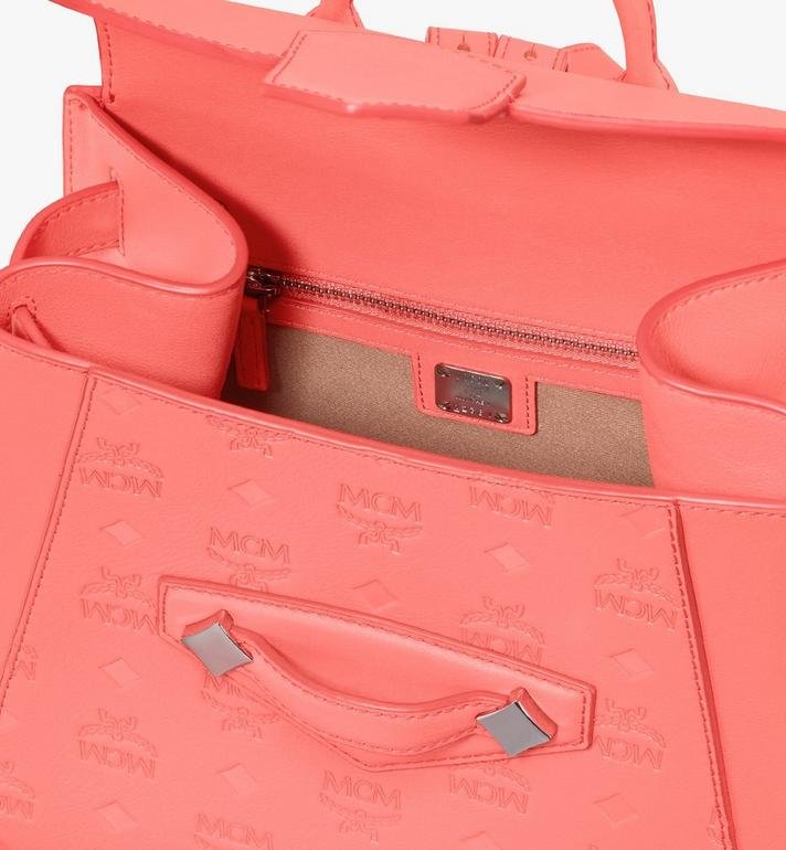 MCM Essential Backpack in Monogram Leather Pink MWKASSE01O3001 Alternate View 4