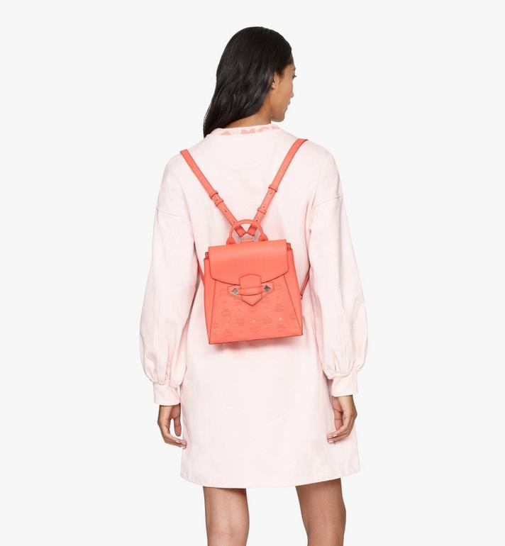 MCM Essential Backpack in Monogram Leather Pink MWKASSE01O3001 Alternate View 6