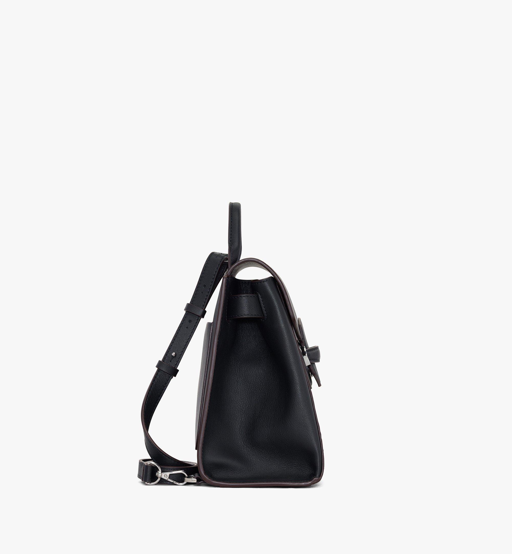 MCM Essential Backpack in Visetos Original Black MWKASSE02BK001 Alternate View 1