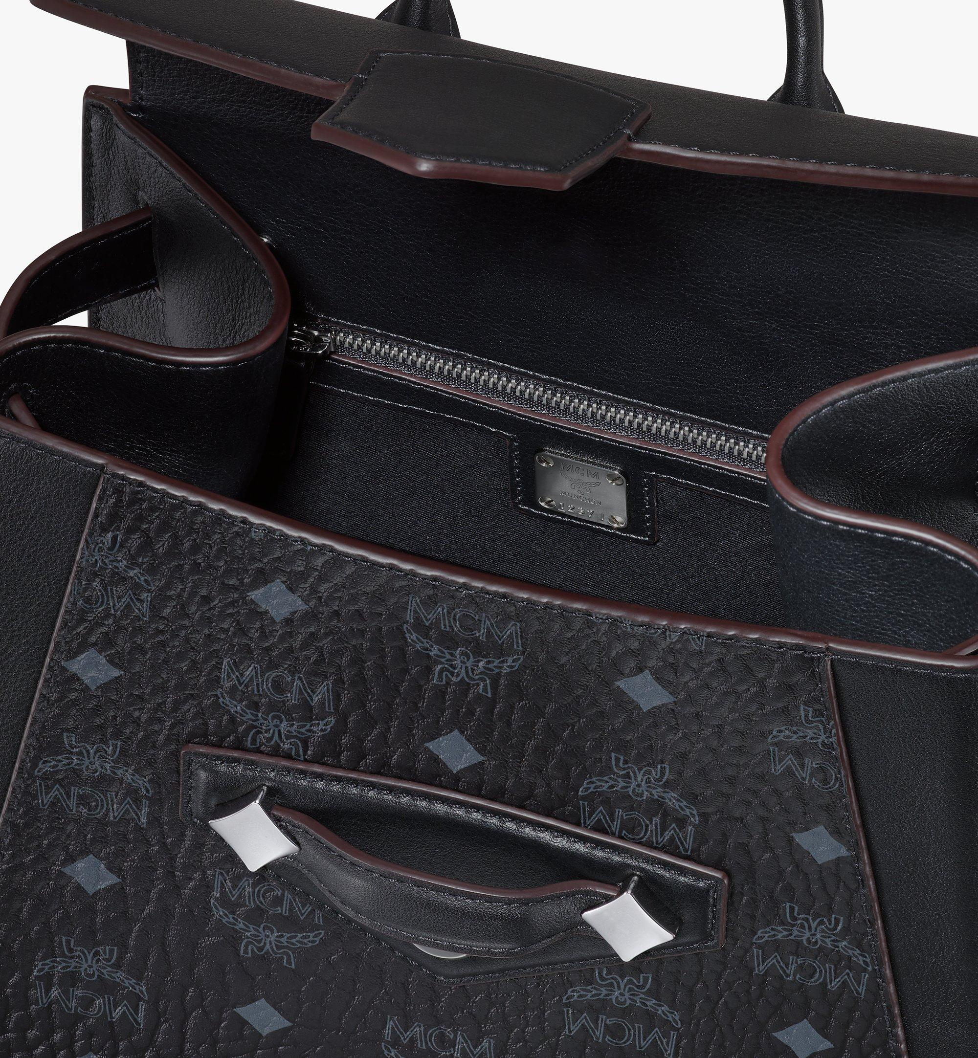 MCM Essential Backpack in Visetos Original Black MWKASSE02BK001 Alternate View 3