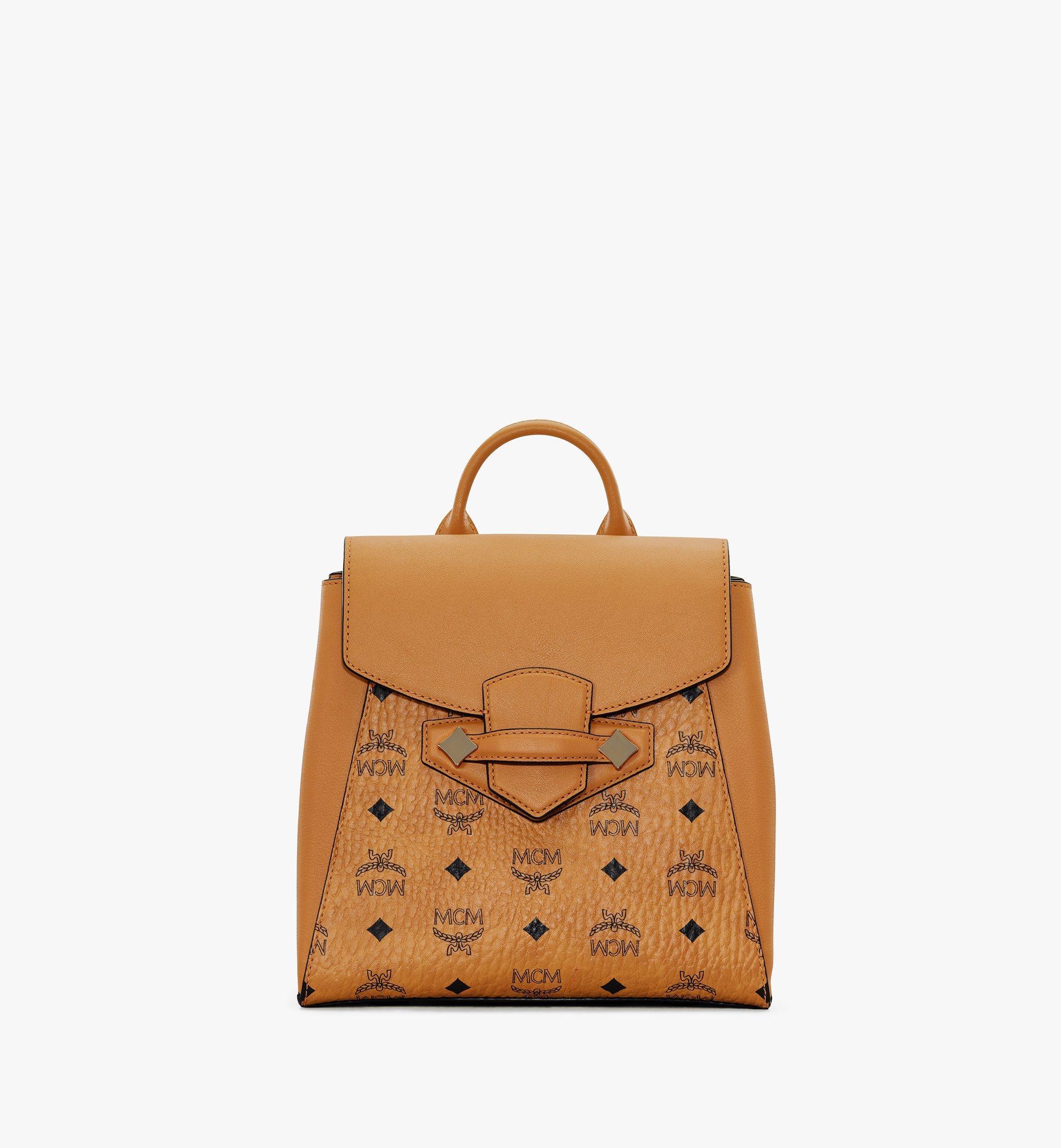 MCM Essential Backpack in Visetos Original Cognac MWKASSE02CO001 Alternate View 1