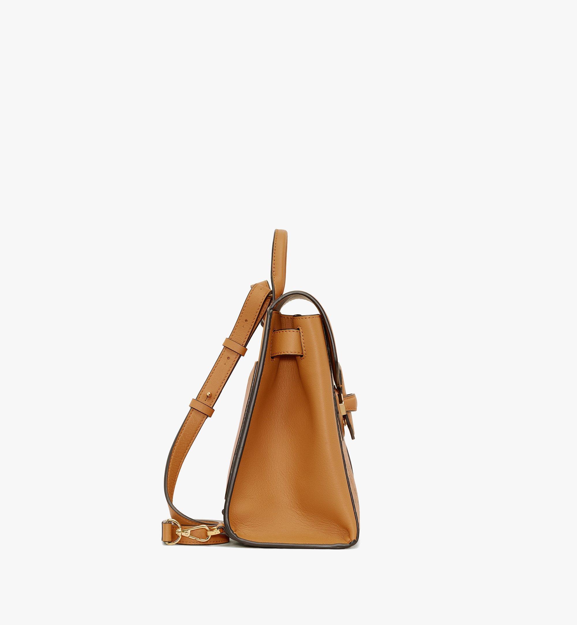 MCM Essential Backpack in Visetos Original Cognac MWKASSE02CO001 Alternate View 2