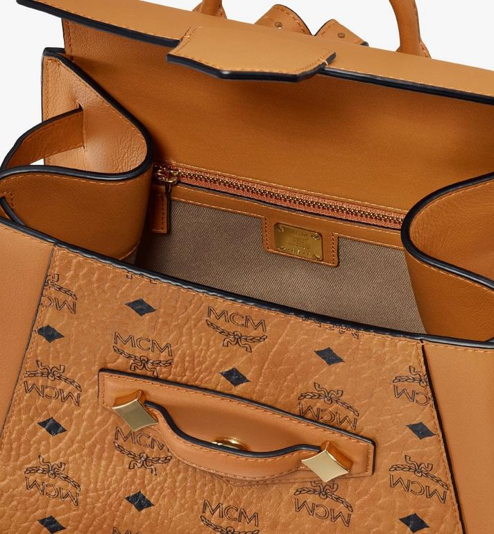 MCM Essential Backpack in Visetos Original Cognac MWKASSE02CO001 Alternate View 4