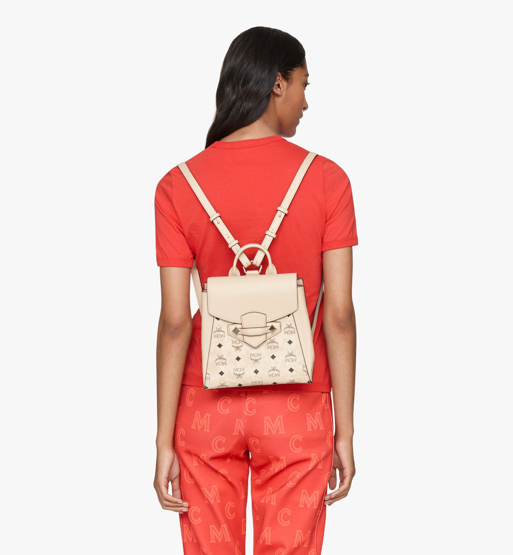 MCM Essential Backpack in Visetos Original Beige MWKASSE02IG001 Alternate View 2