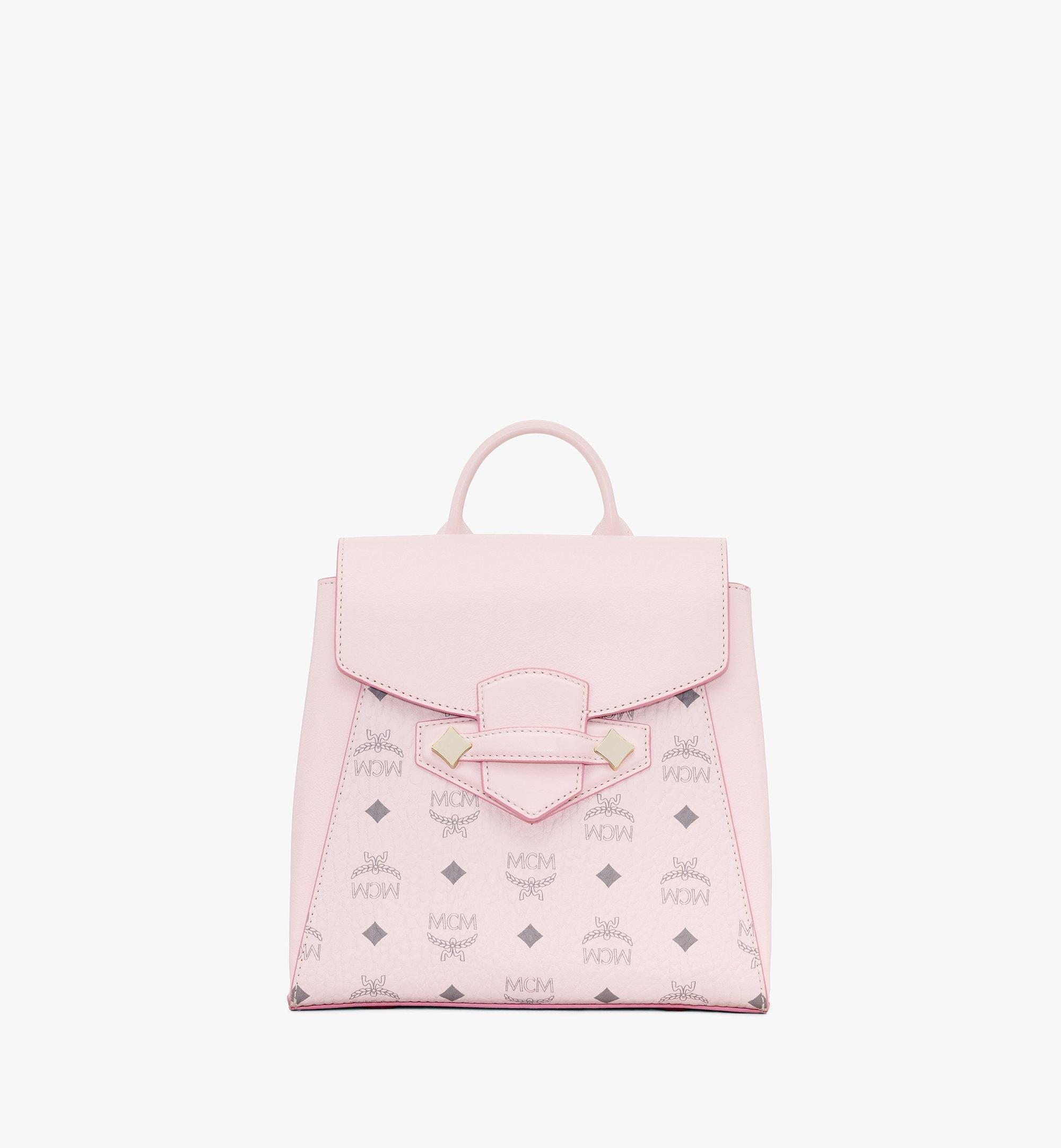 MCM Essential Backpack in Visetos Original Pink MWKASSE02QH001 Alternate View 1