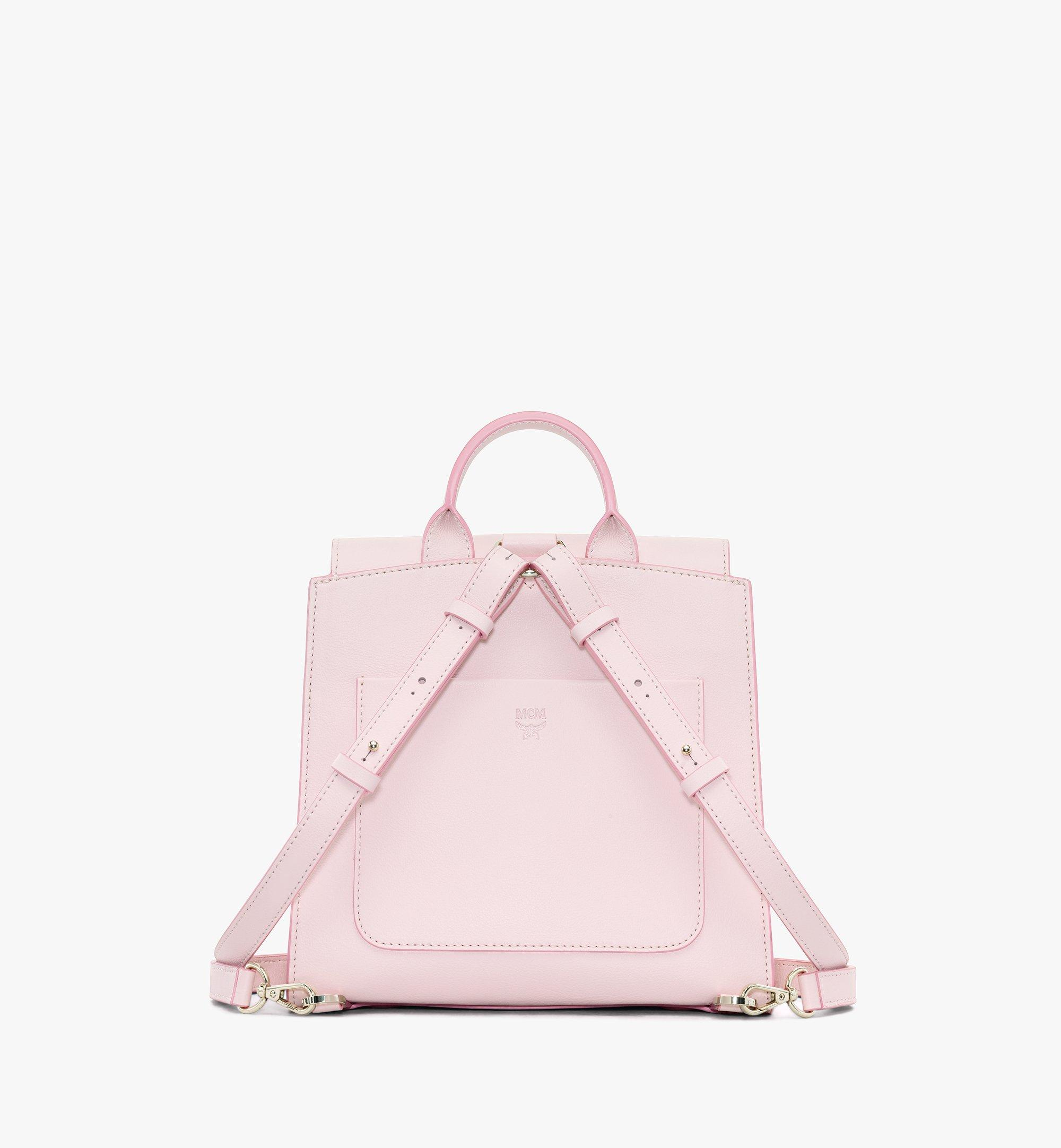MCM Essential Backpack in Visetos Original Pink MWKASSE02QH001 Alternate View 3