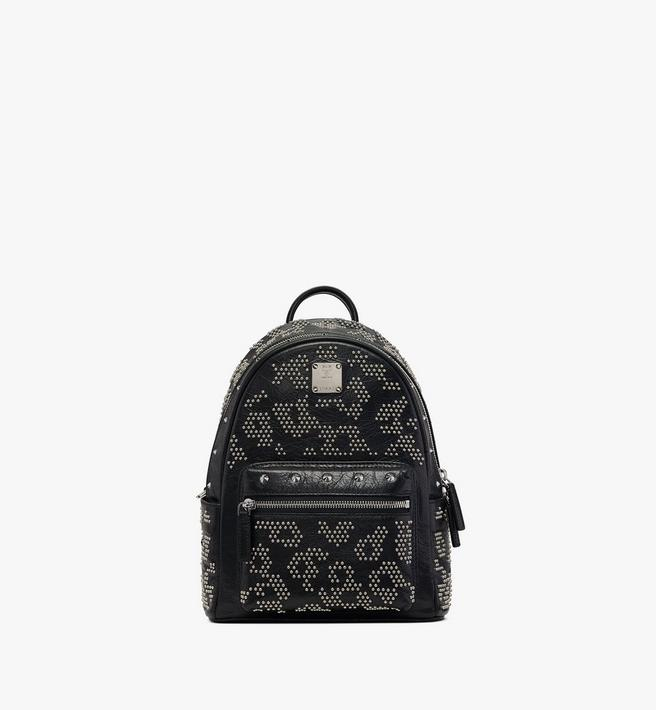 MCM Stark Backpack in Studded Leopard Leather Alternate View
