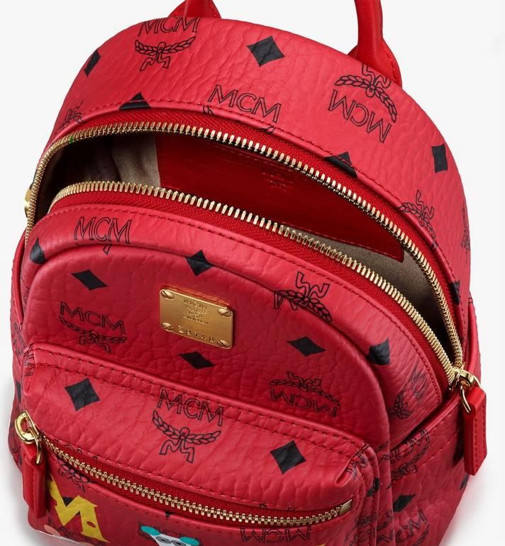 MCM Year Of The Mouse Stark Backpack in Visetos Red MWKASVE04RJ001 Alternate View 4