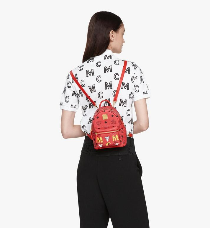 MCM Year Of The Mouse Stark Backpack in Visetos Red MWKASVE04RJ001 Alternate View 5