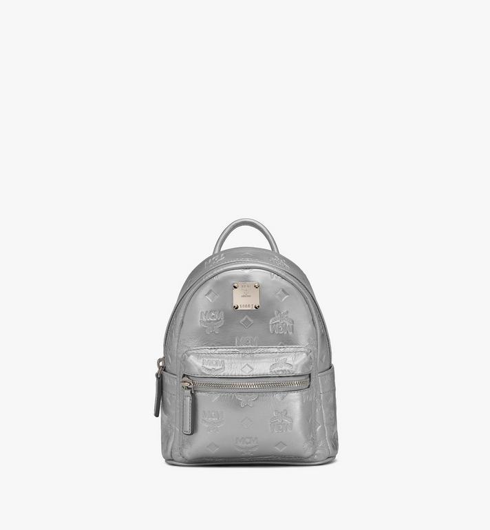 MCM Stark Bebe Boo Backpack in Monogram Leather Alternate View