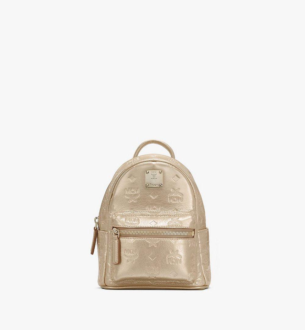 MCM Stark Bebe Boo Backpack in Monogram Leather Gold MWKASVE05T1001 Alternate View 1