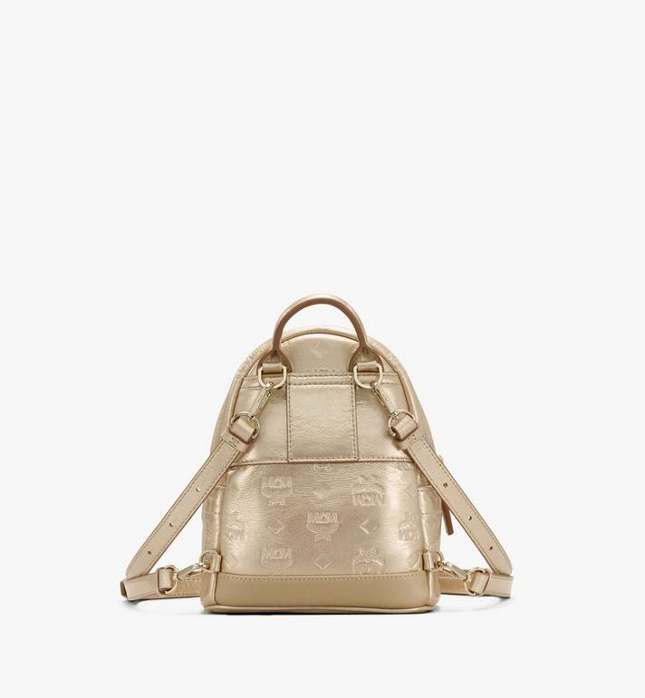 MCM Stark Bebe Boo Backpack in Monogram Leather Gold MWKASVE05T1001 Alternate View 3