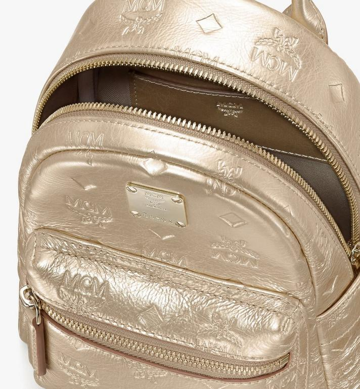 MCM Stark Bebe Boo Backpack in Monogram Leather Gold MWKASVE05T1001 Alternate View 4