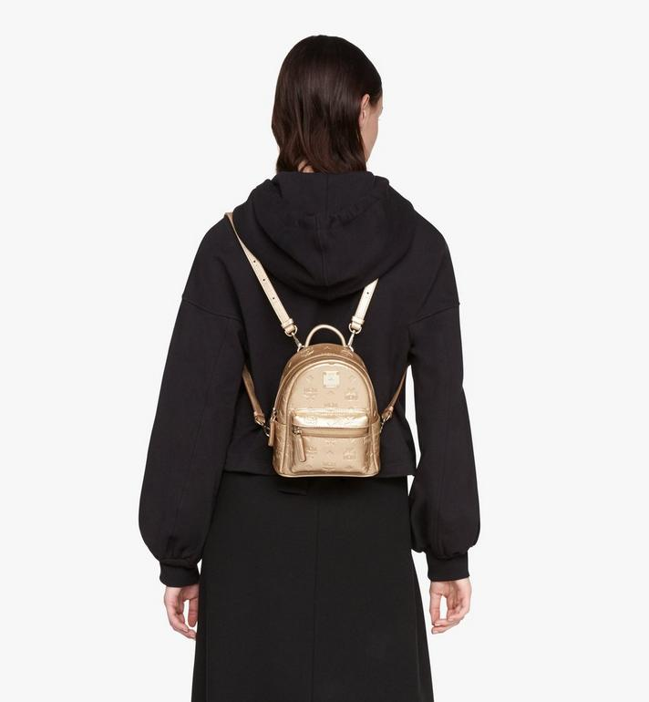 MCM Stark Bebe Boo Backpack in Monogram Leather Gold MWKASVE05T1001 Alternate View 5
