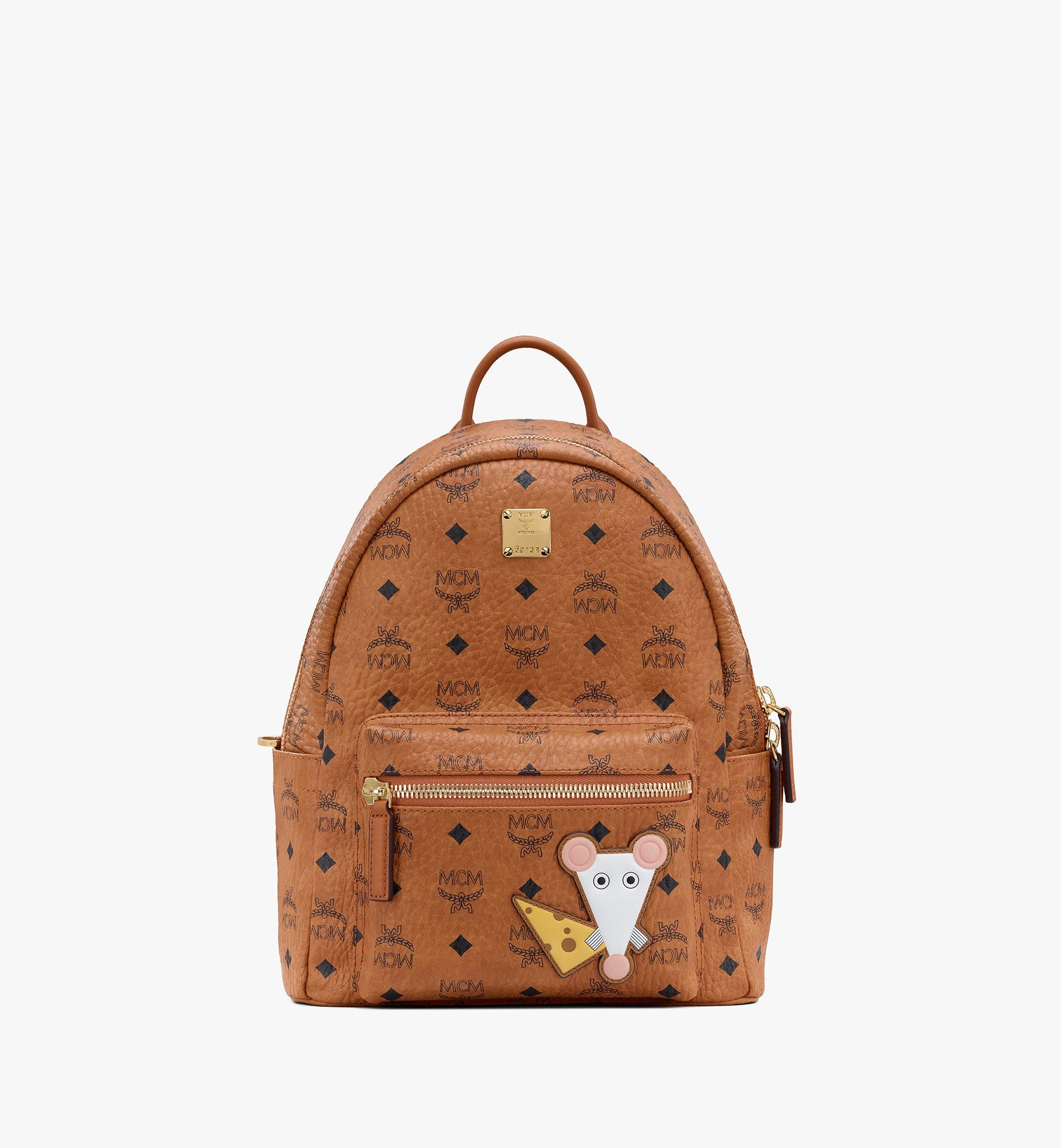 MCM Year Of The Mouse Stark Rucksack in Visetos Cognac MWKASVE07CO001 Alternate View 1
