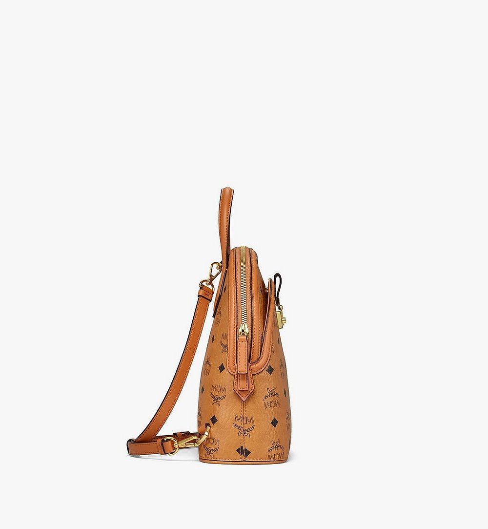 MCM Anna Backpack in Visetos Cognac MWKBSNN01CO001 Alternate View 1