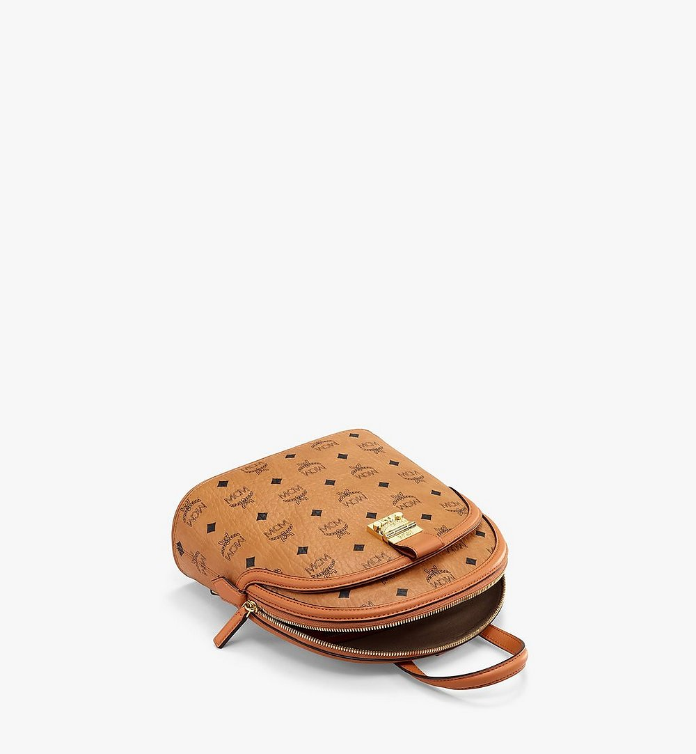 MCM Anna Backpack in Visetos Cognac MWKBSNN01CO001 Alternate View 2