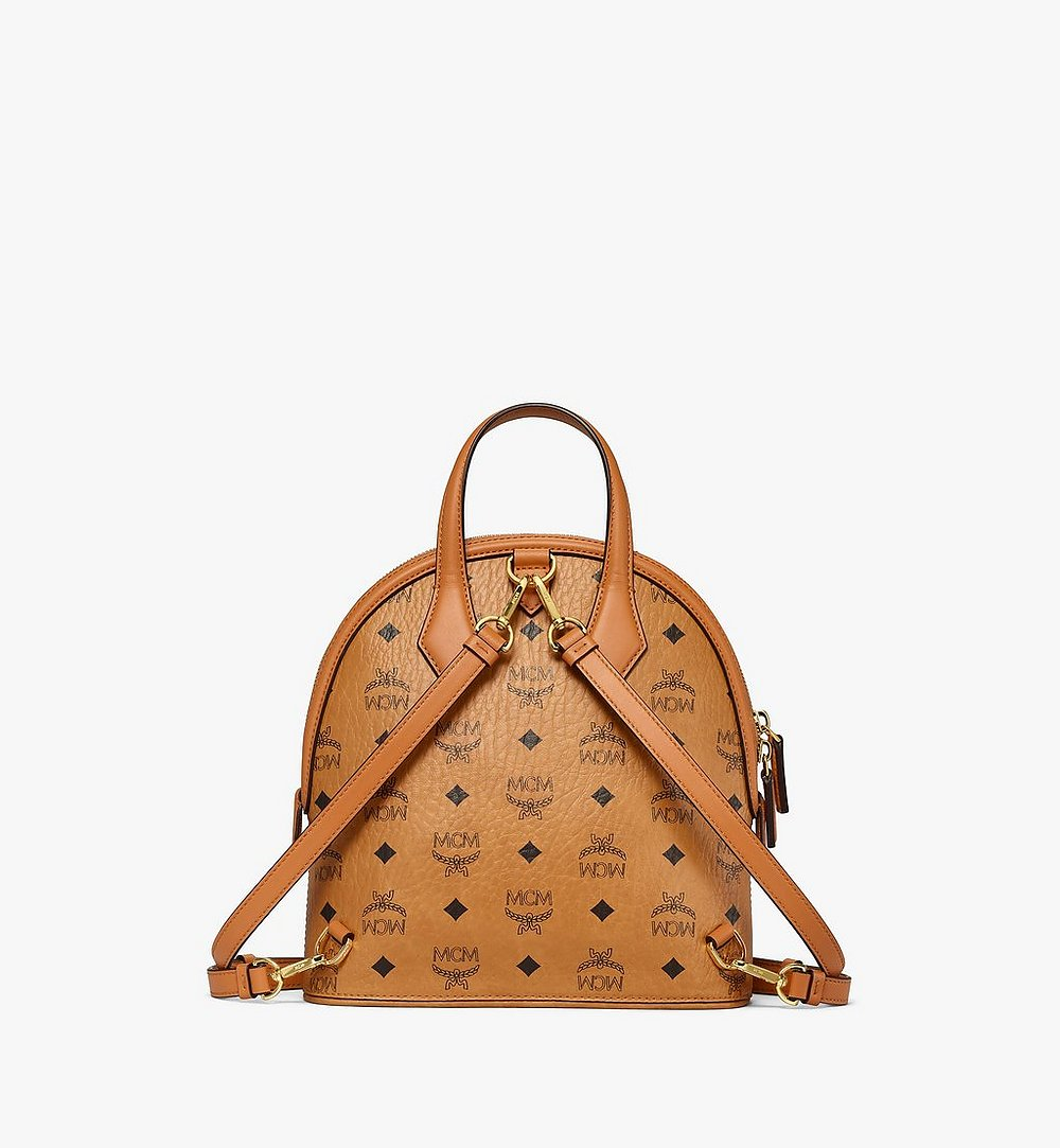 MCM Anna Backpack in Visetos Cognac MWKBSNN01CO001 Alternate View 3