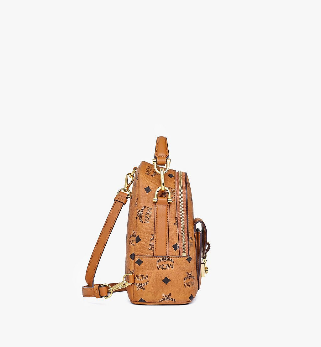 MCM Patricia Backpack in Visetos Cognac MWKBSPA01CO001 Alternate View 1