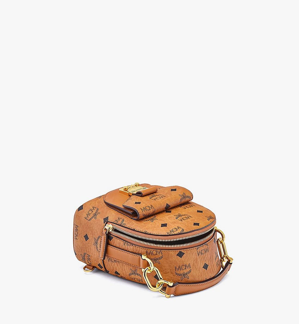 MCM Patricia Backpack in Visetos Cognac MWKBSPA01CO001 Alternate View 2