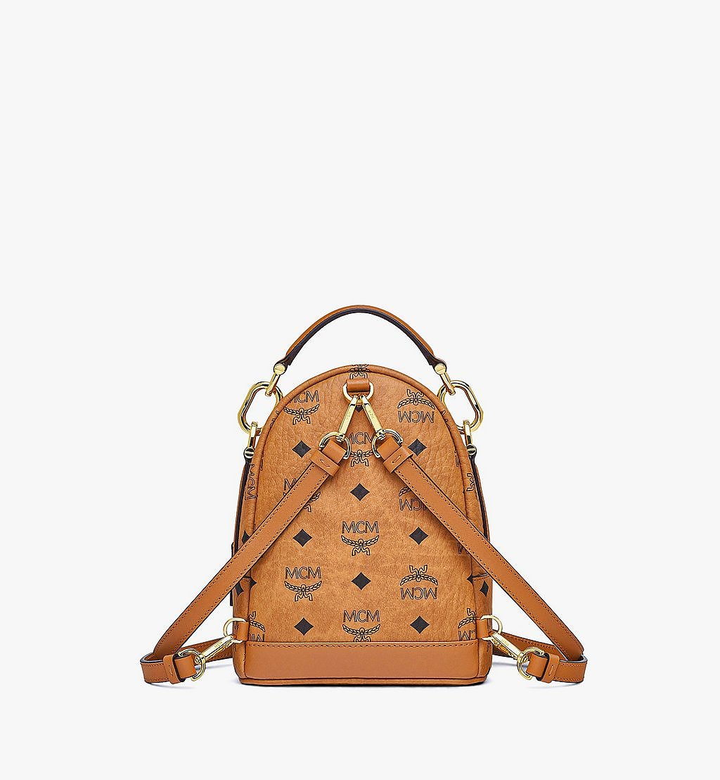 MCM Patricia Backpack in Visetos Cognac MWKBSPA01CO001 Alternate View 3