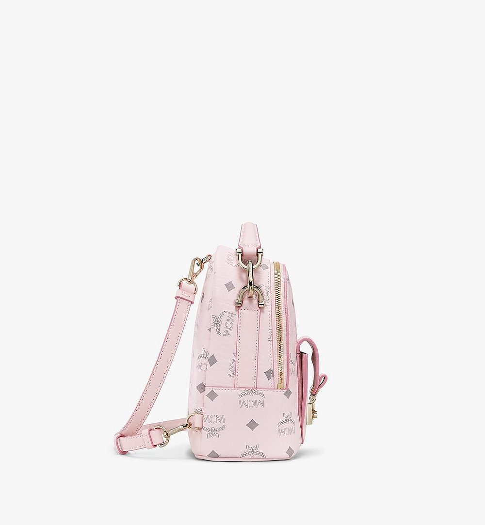 MCM Patricia Backpack in Visetos Pink MWKBSPA01QH001 Alternate View 1
