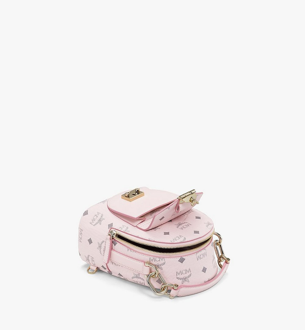 MCM Patricia Backpack in Visetos Pink MWKBSPA01QH001 Alternate View 2