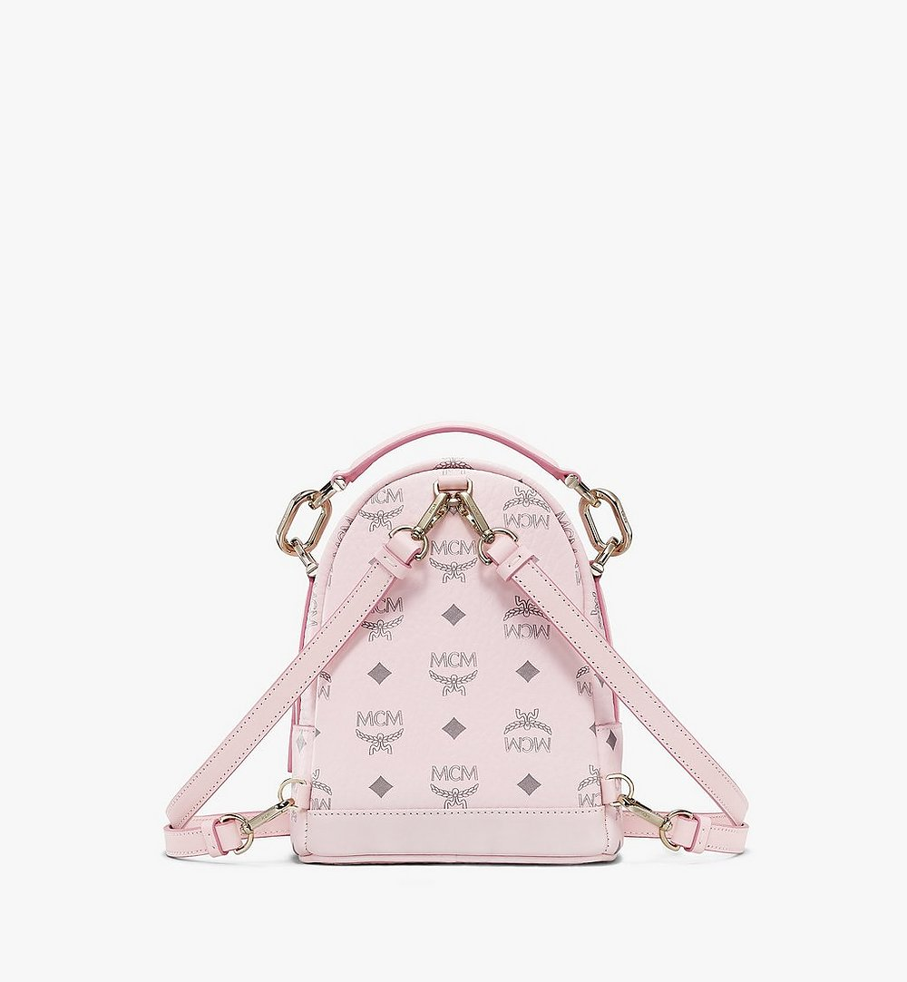 MCM Patricia Backpack in Visetos Pink MWKBSPA01QH001 Alternate View 3