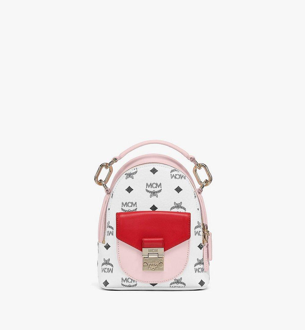 MCM 패트리샤 비세토스 레더 블록 백팩 Pink MWKBSPA02QH001 다른 각도 보기 1