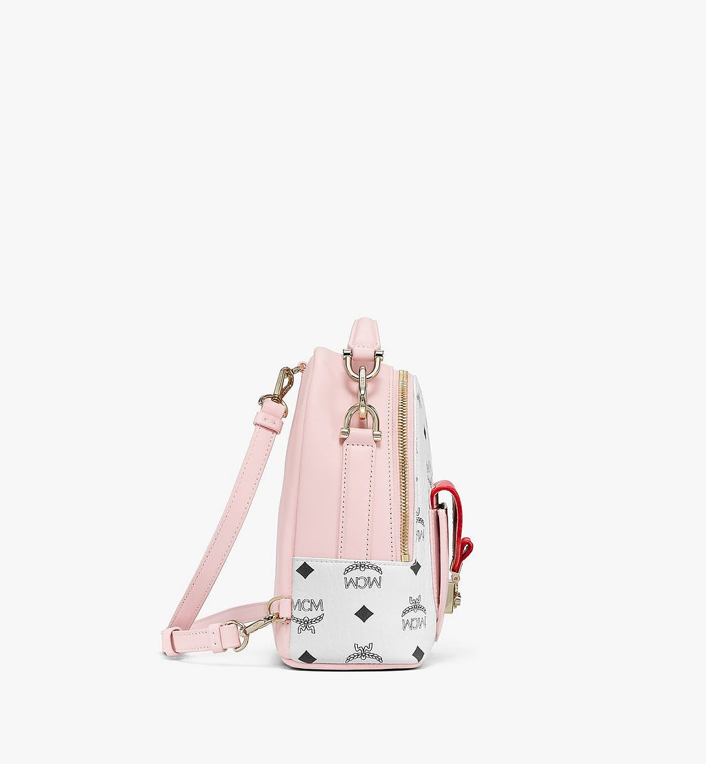 MCM Patricia Backpack in Visetos Leather Block Pink MWKBSPA02QH001 Alternate View 1