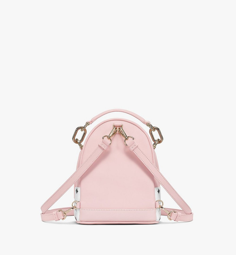MCM Patricia Backpack in Visetos Leather Block Pink MWKBSPA02QH001 Alternate View 3